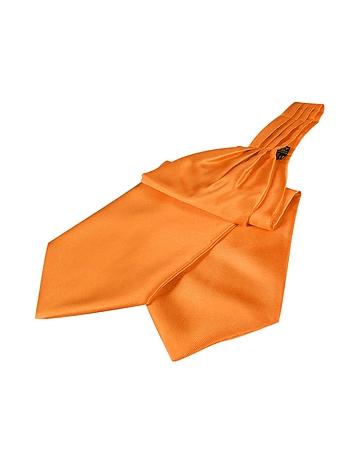 Forzieri - Solid Color Pure Silk Ascot