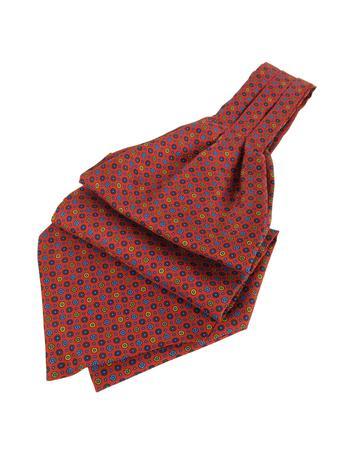Victorian Mens Ties Dots and Flower Print Silk Ascot $80.00 AT vintagedancer.com