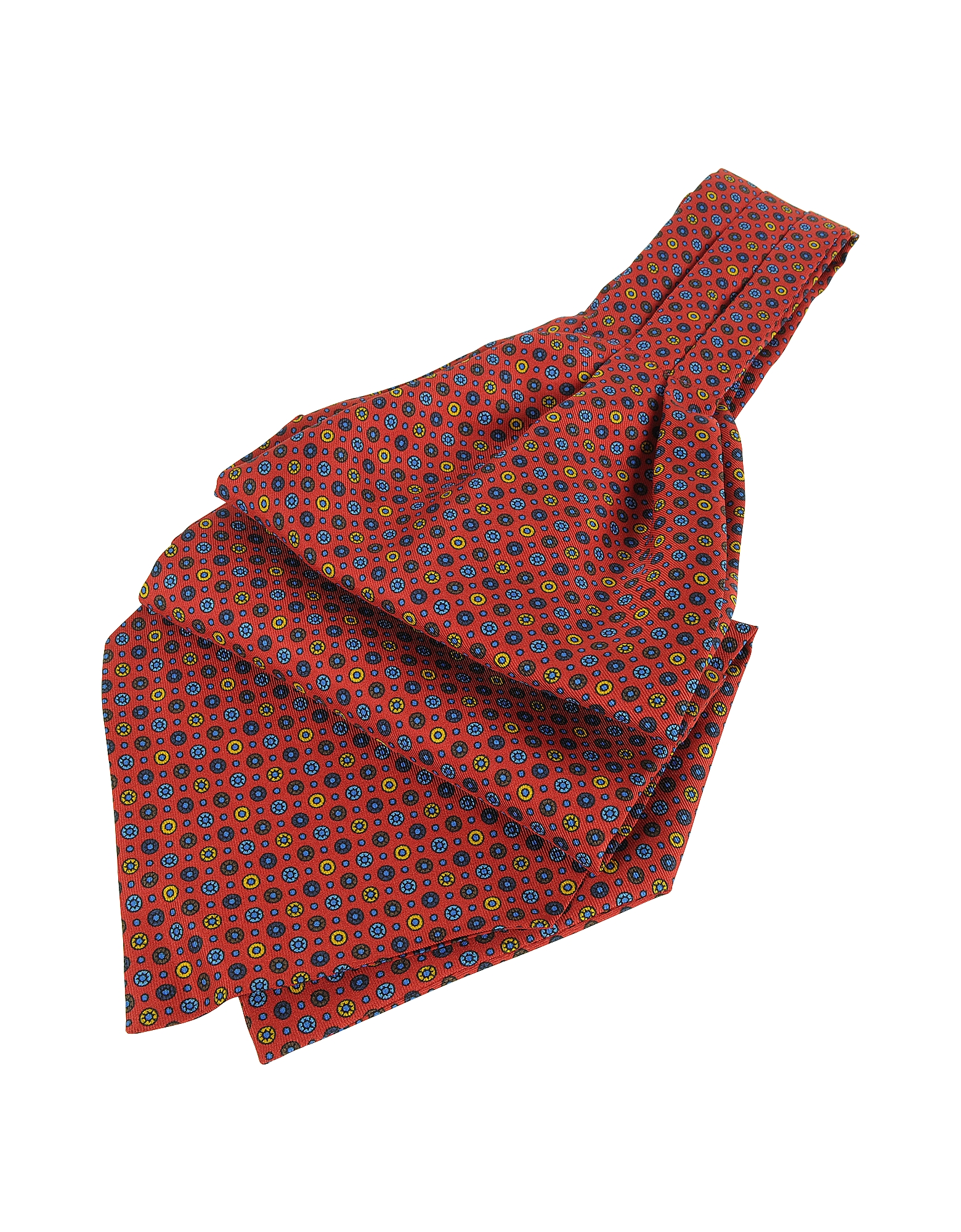 Forzieri Ascot ties, Dots and Flower Print Silk Ascot