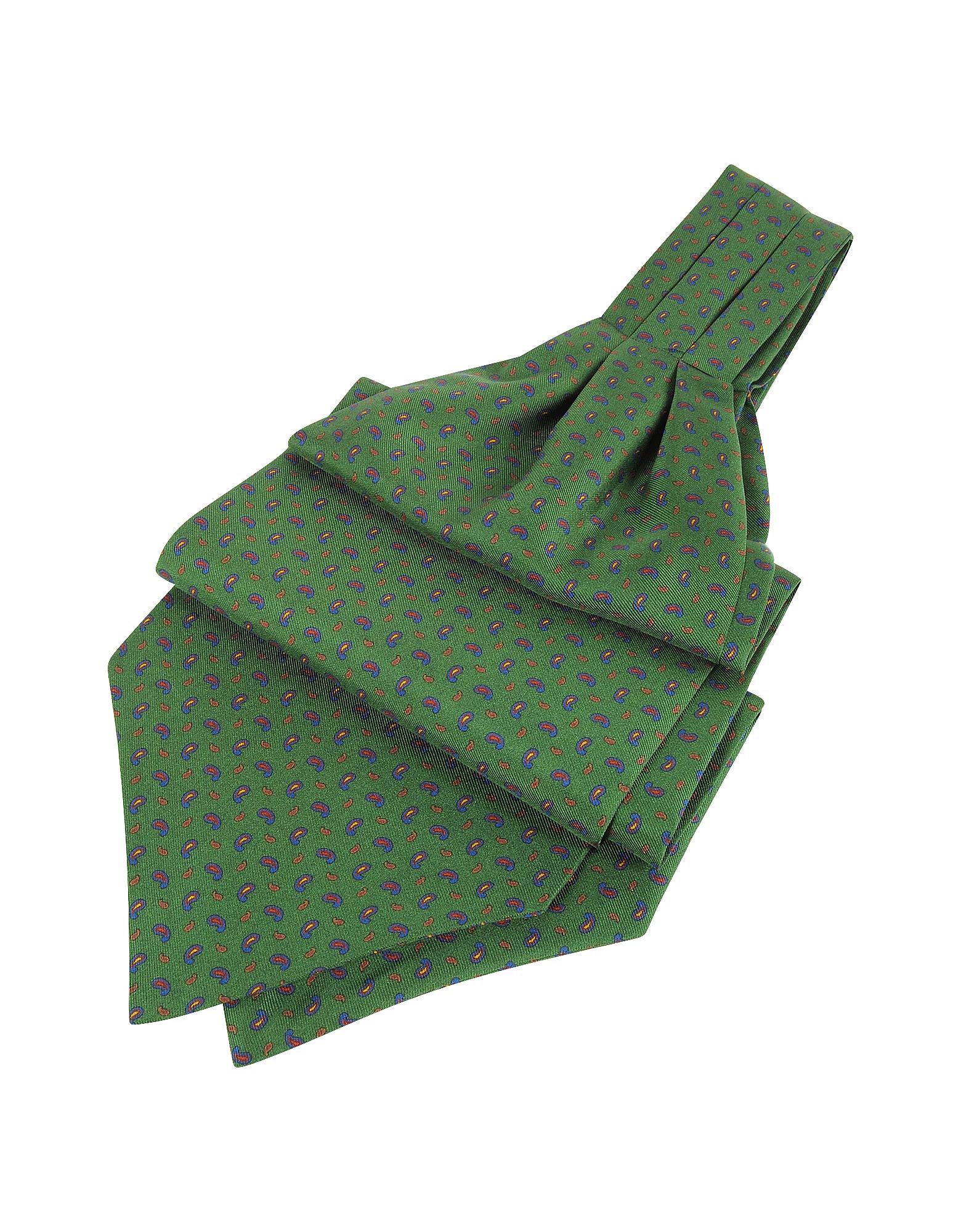 Forzieri Ascot ties, Paisley Print Pure Silk Ascot