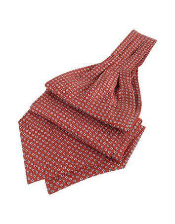 Victorian Mens Ties Daisy Print Pure Silk Ascot $80.00 AT vintagedancer.com