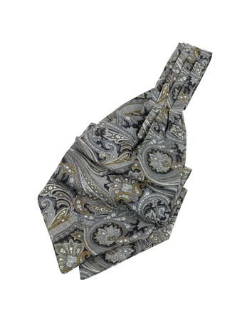 Steampunk Ties Ornamental Print Silk Ascot $73.00 AT vintagedancer.com