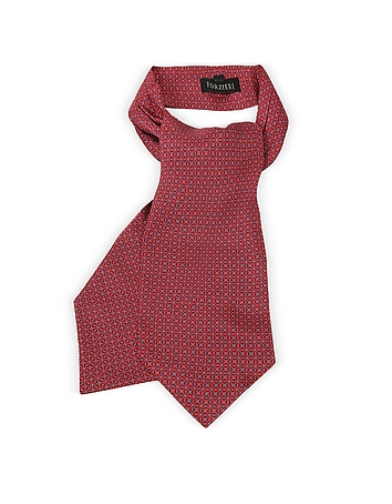 Optical Print Silk Tie Ascot
