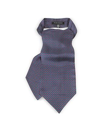 Forzieri - Paisley Print Silk Tie Ascot