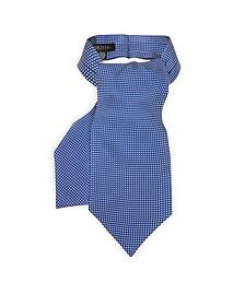 Micro Dots Print Silk Tie Ascot - Forzieri