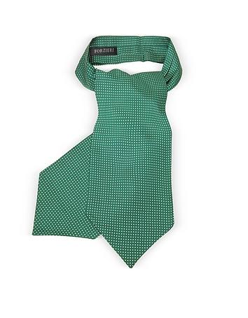 Forzieri - Micro Dots Print Silk Tie Ascot
