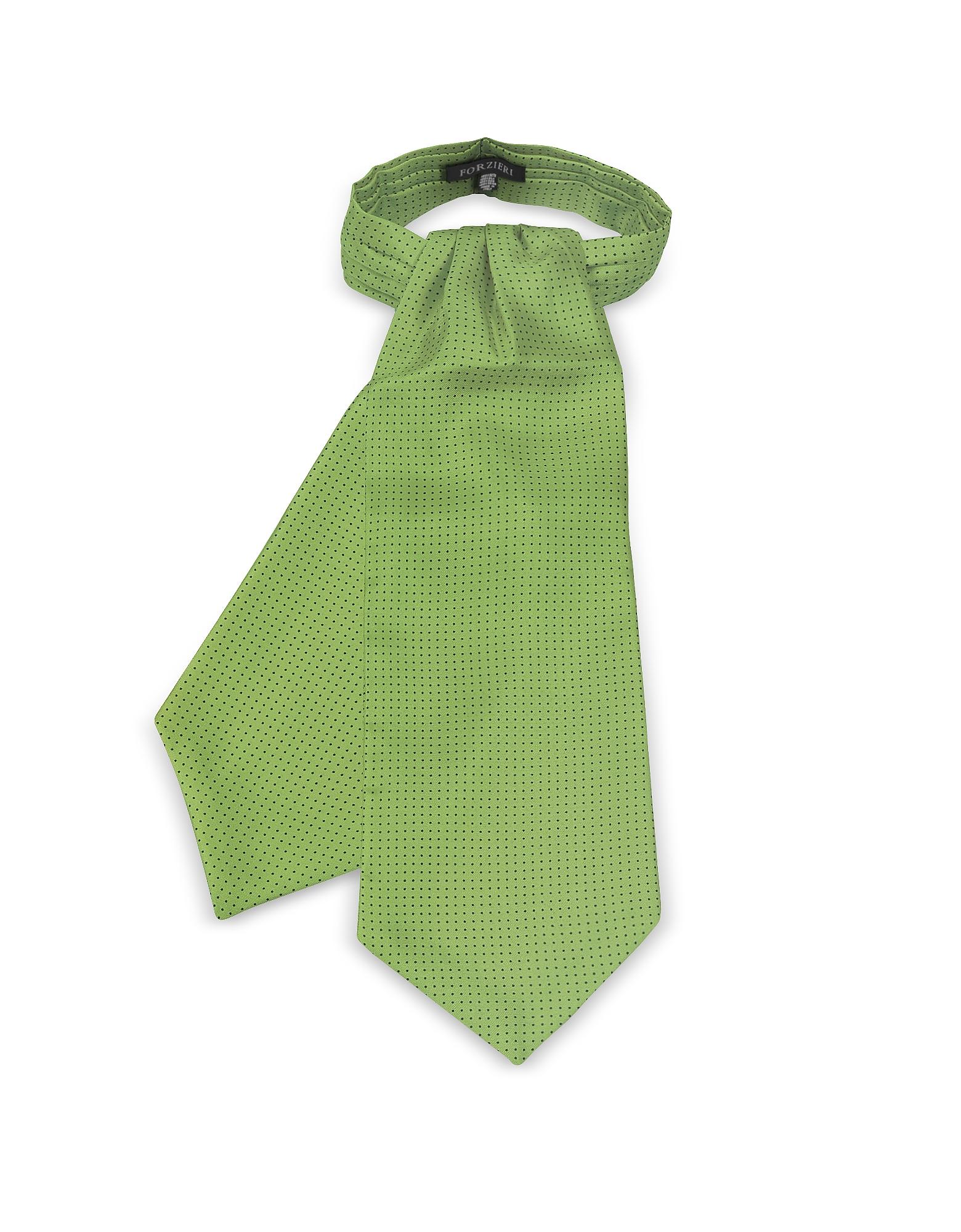 Forzieri Ascot ties, Micro Dots Print Silk Tie Ascot