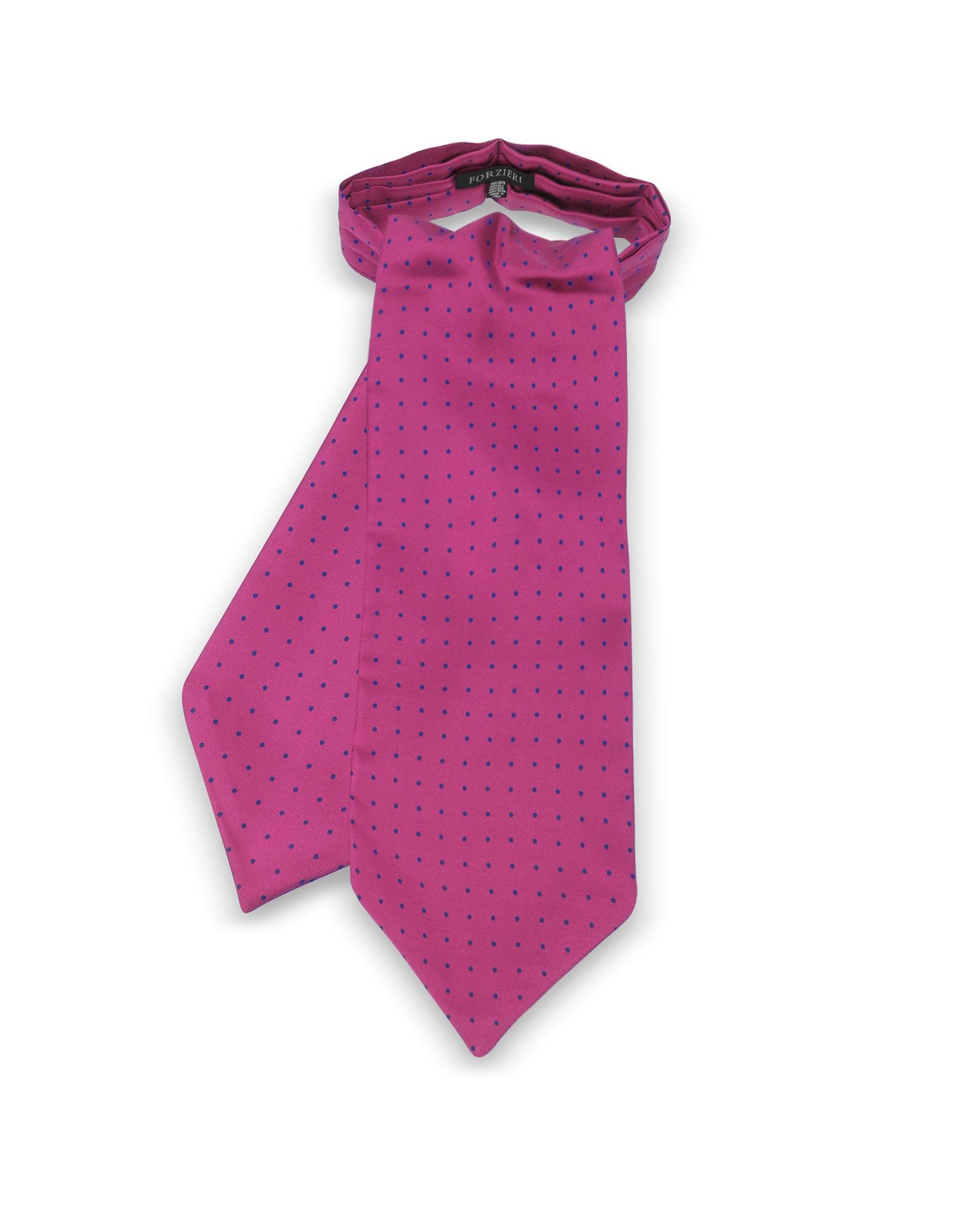 Forzieri Ascot ties, Polkadots Print Silk Tie Ascot