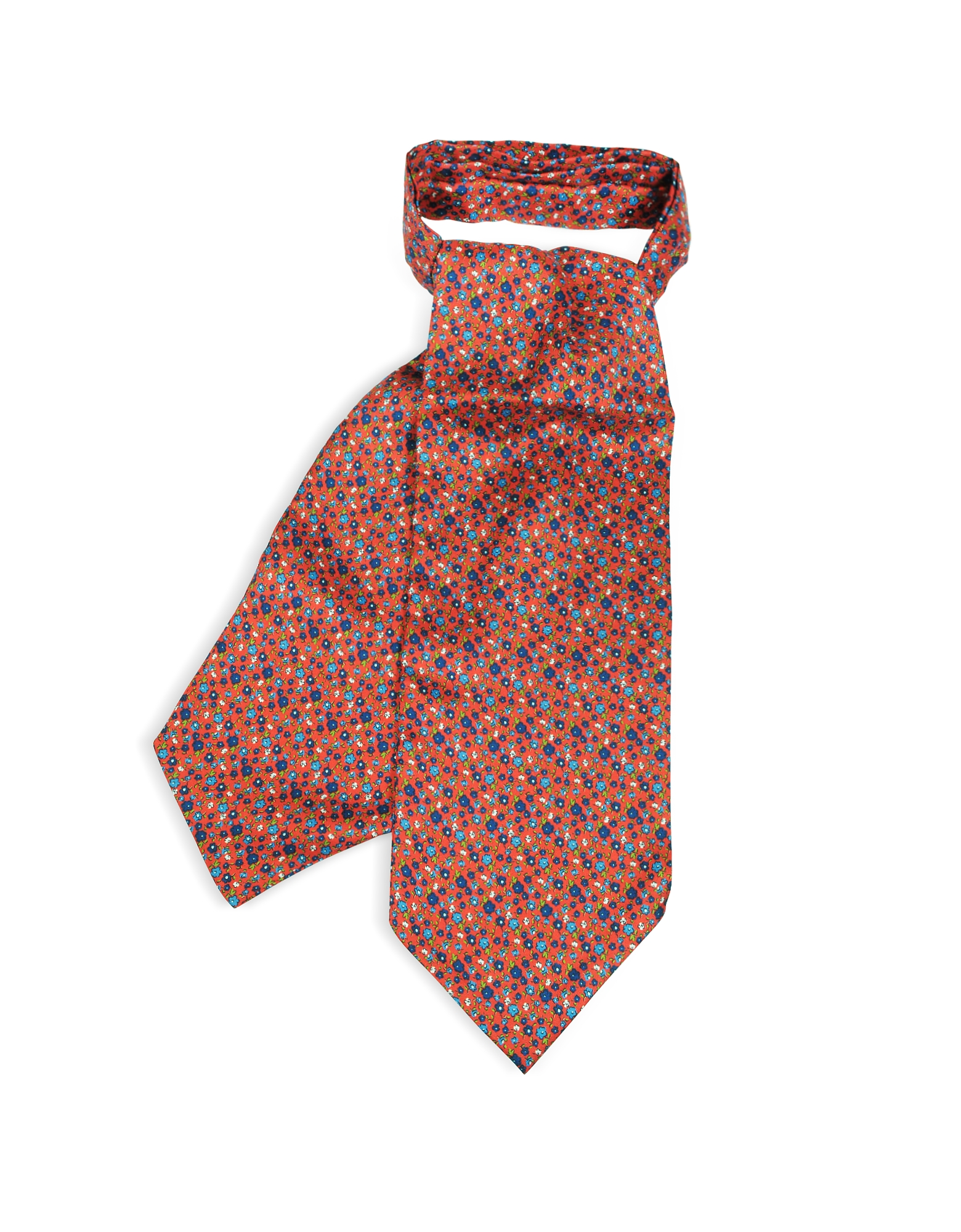 Floral Printed Silk Men's Ascot