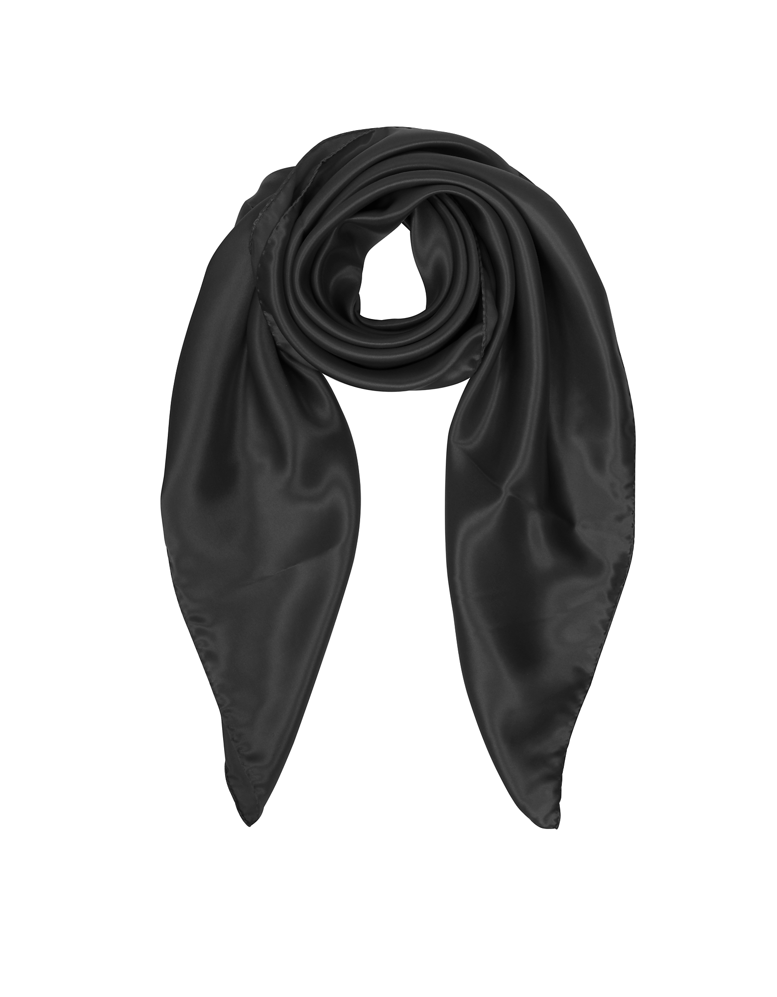Forzieri Scarves, Solid Twill Silk Square Scarf