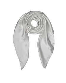 Solid Twill  Silk Square Scarf - Forzieri