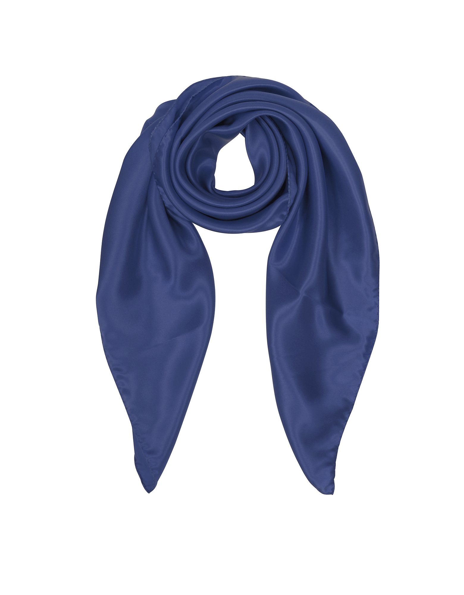 Forzieri Square Scarves, Solid Twill Silk Square Scarf