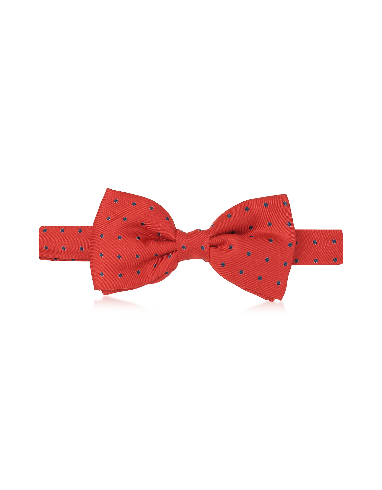 Красный Повязанный Галстук-Бабочка в Горошек