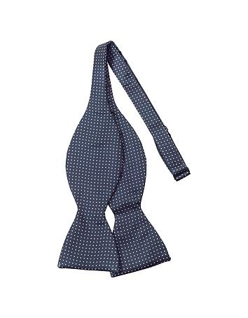 Edwardian Men's Neckties Small Polkadot Self-tie Silk Bowtie $86.40 AT vintagedancer.com