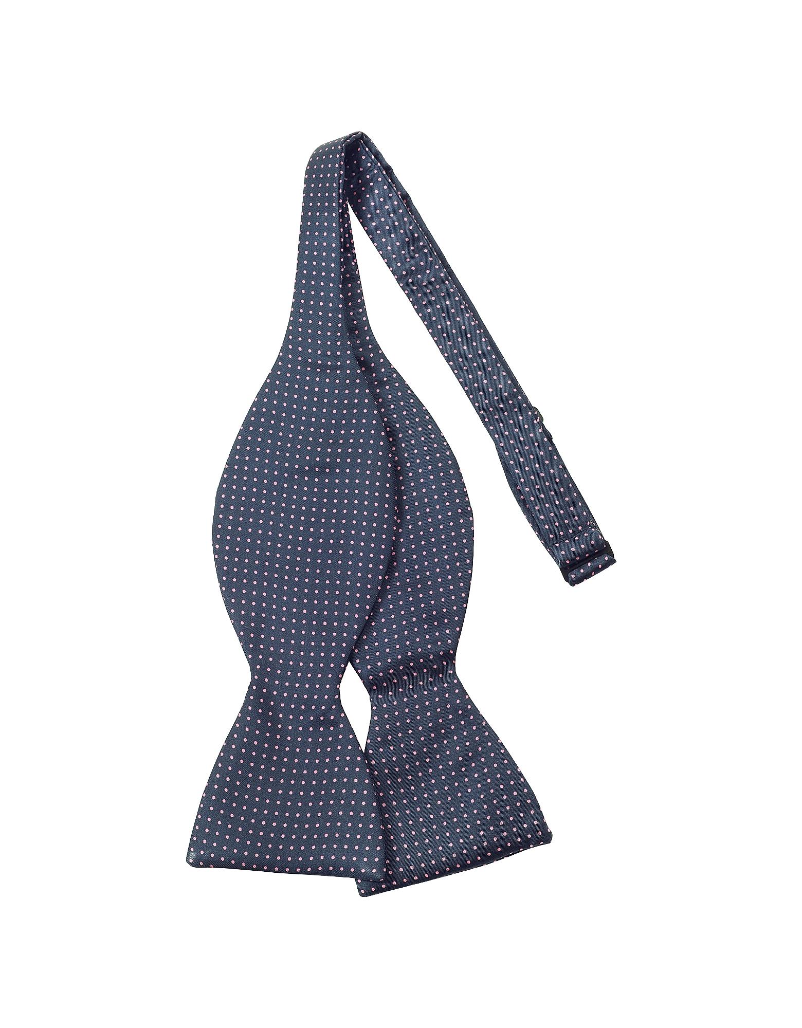 Forzieri Bowties and Cummerbunds, Small Polkadot Self-tie Silk Bowtie