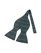 Forzieri Papillon in seta motivo scozzese verde e blu - forzieri - it.forzieri.com
