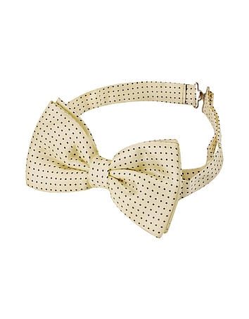 Edwardian Men's Neckties Small Polkadot Pre-Tied Silk Bowtie $81.60 AT vintagedancer.com
