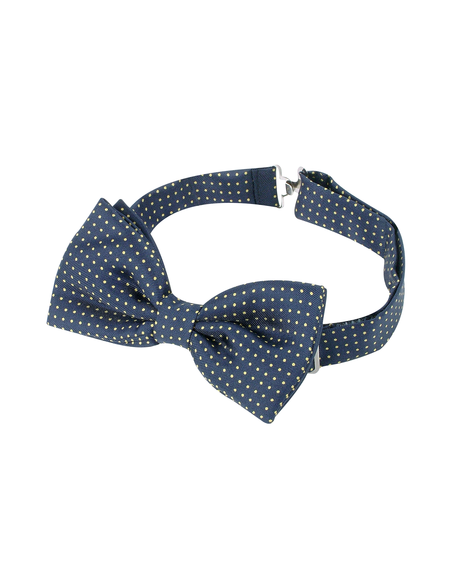 Forzieri Designer Bowties and Cummerbunds, Small Polkadot Pre-Tied Silk Bowtie