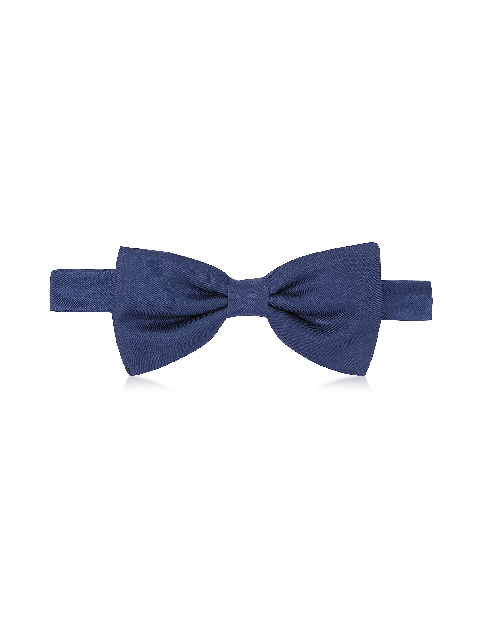 Forzieri Bowties and Cummerbunds, Solid Pre-Tied Silk Bowtie