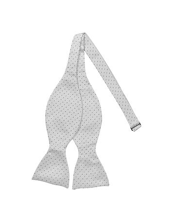 Forzieri - Small Dot Woven Silk Self-tie Bowtie