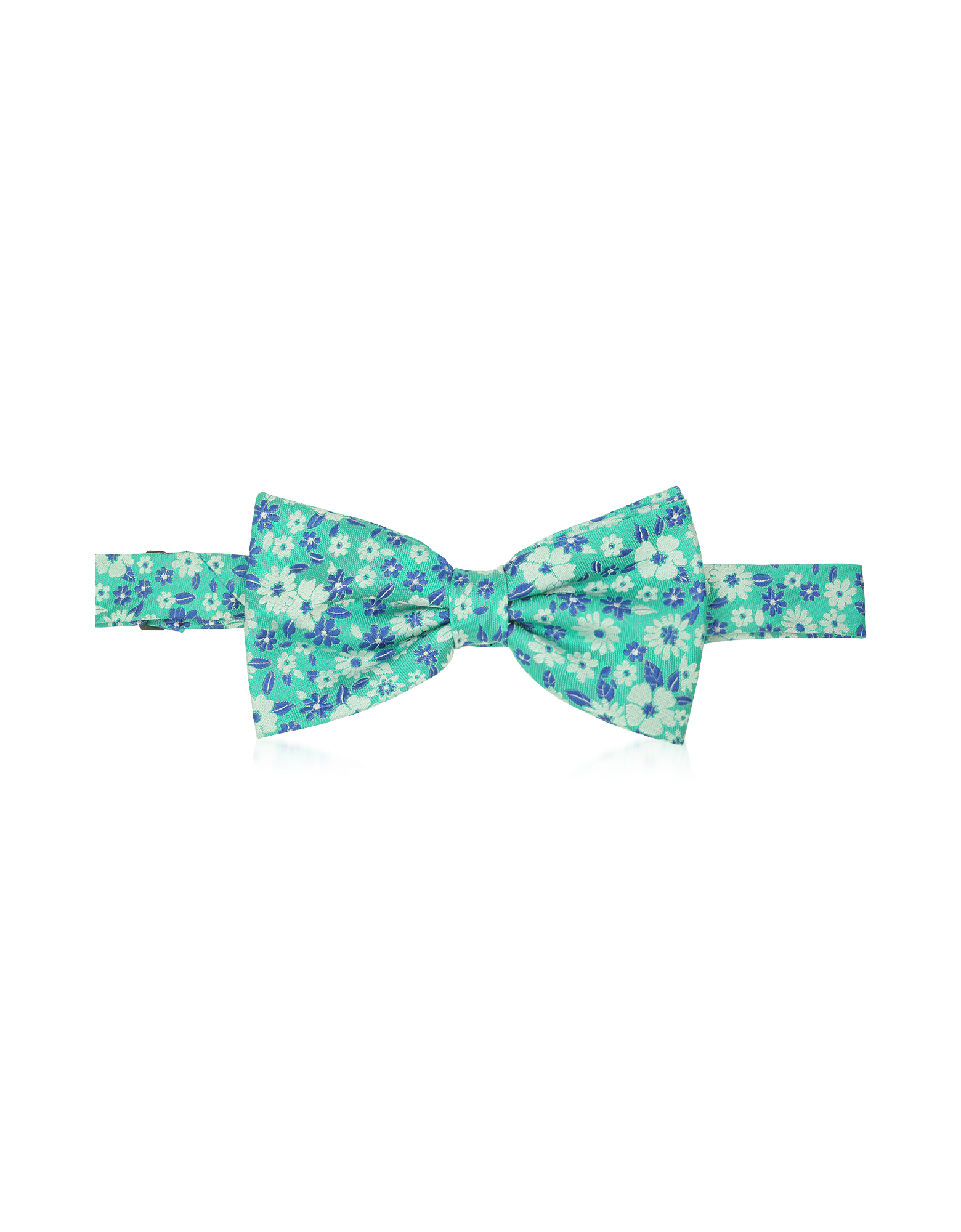 Image of Floral Woven Silk Pre-tied Bowtie