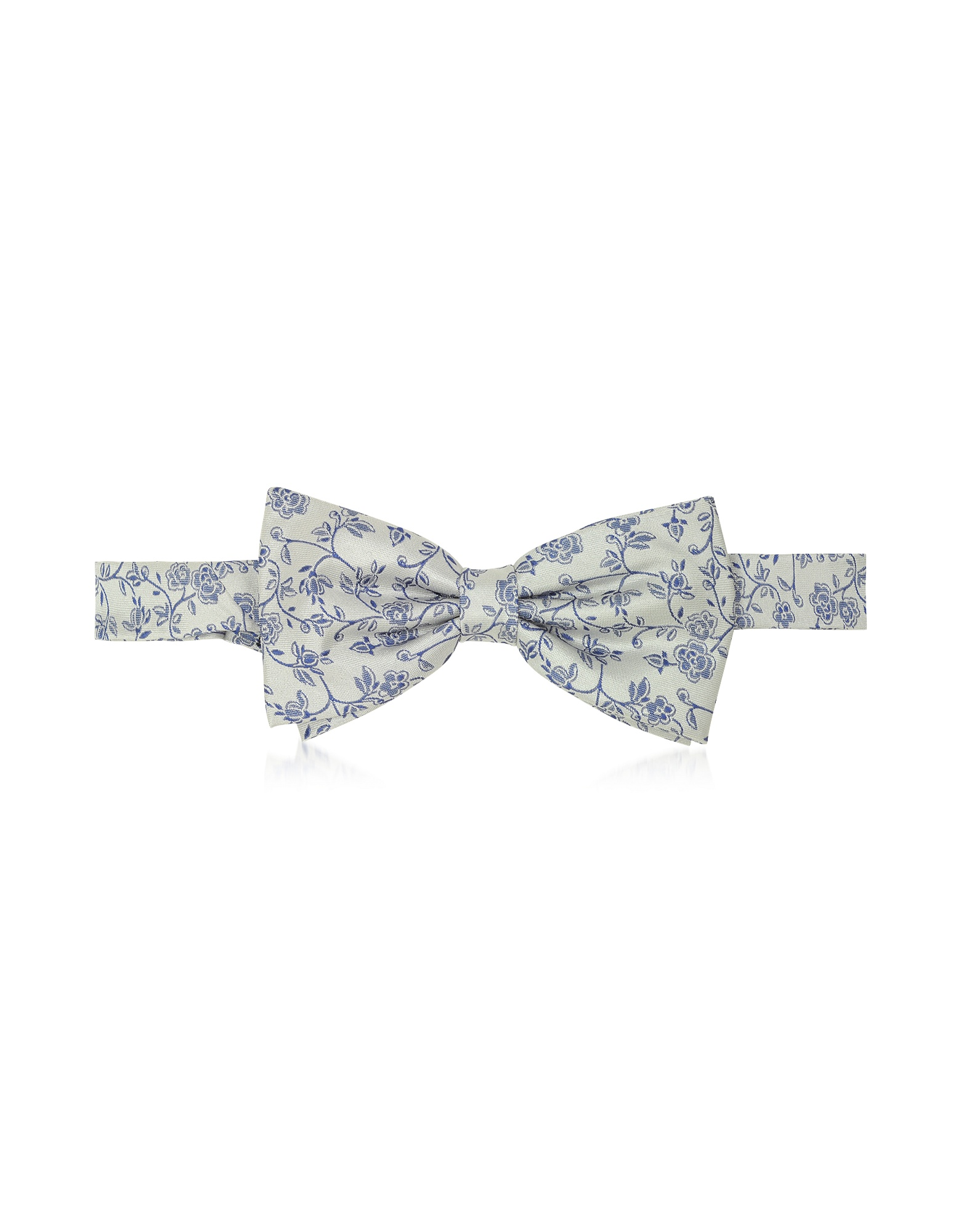 Blue Roses Woven Silk Pre-tied Bow Tie от Forzieri.com INT