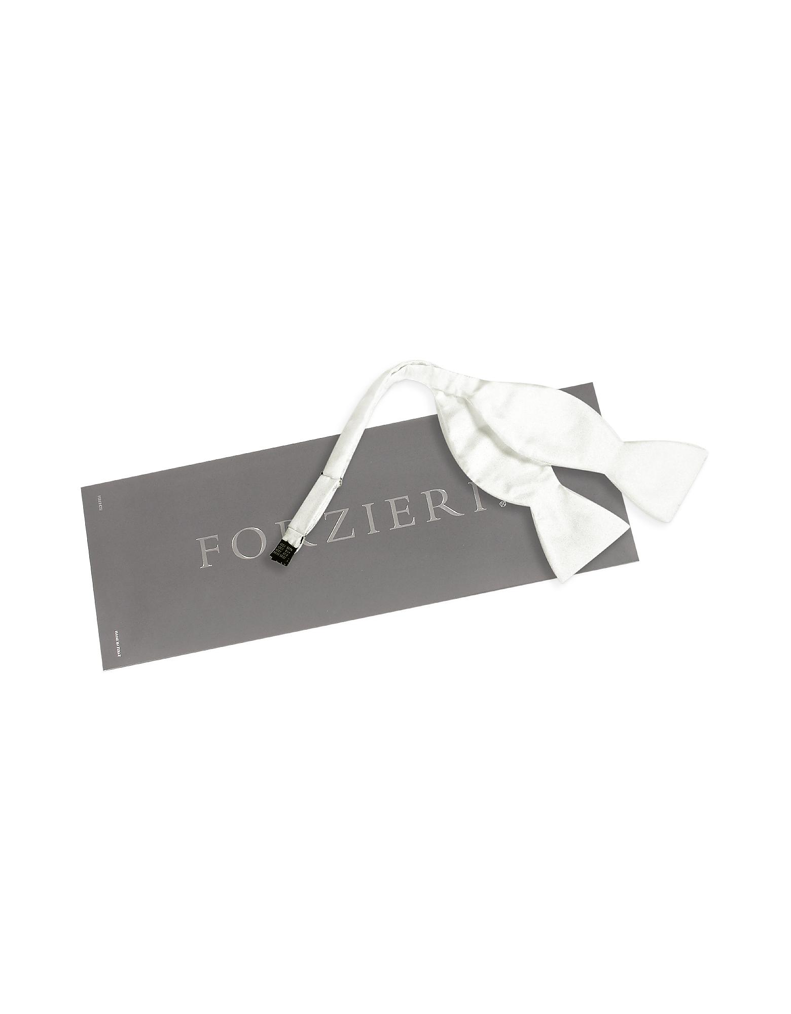 Solid Vanilla Twill Silk Self-tie Bowtie от Forzieri.com INT
