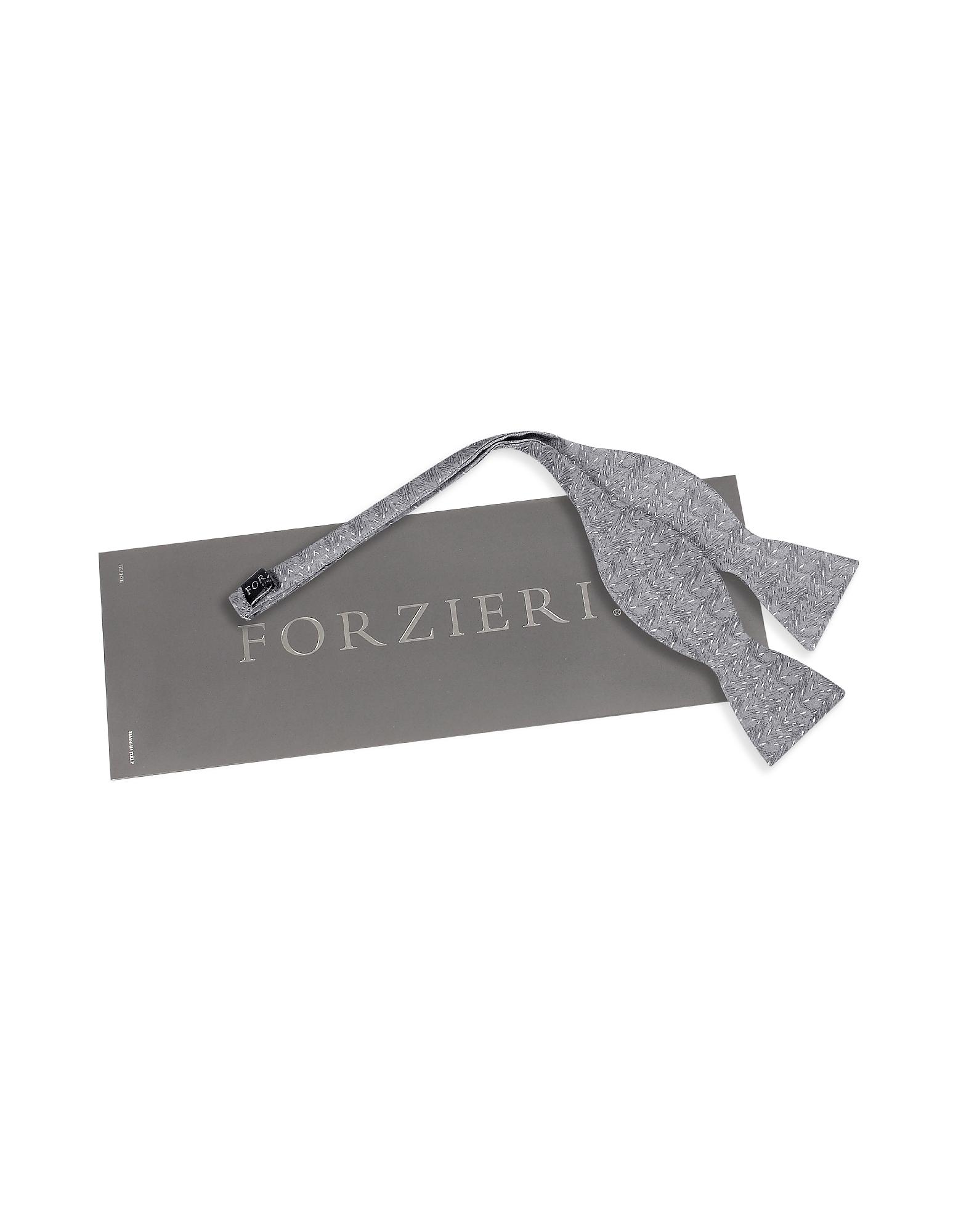 Ceremony Gray Zig-Zag Woven Silk Self-tie Bowtie от Forzieri.com INT