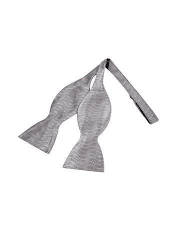 Forzieri Ceremony Silver Waves Woven Silk Self-tie Bowtie