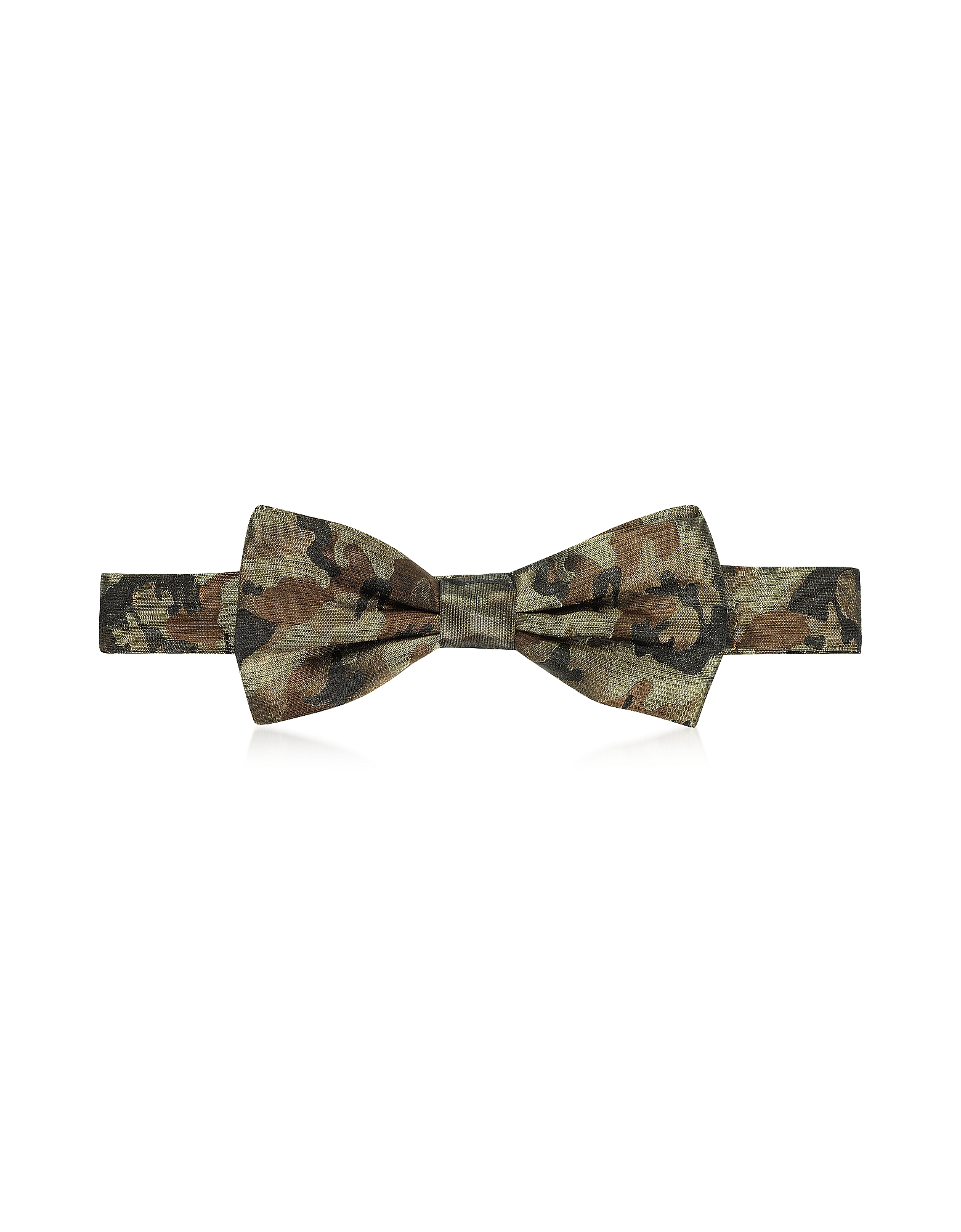Camo Woven Silk Pre Tied Bow Tie от Forzieri.com INT