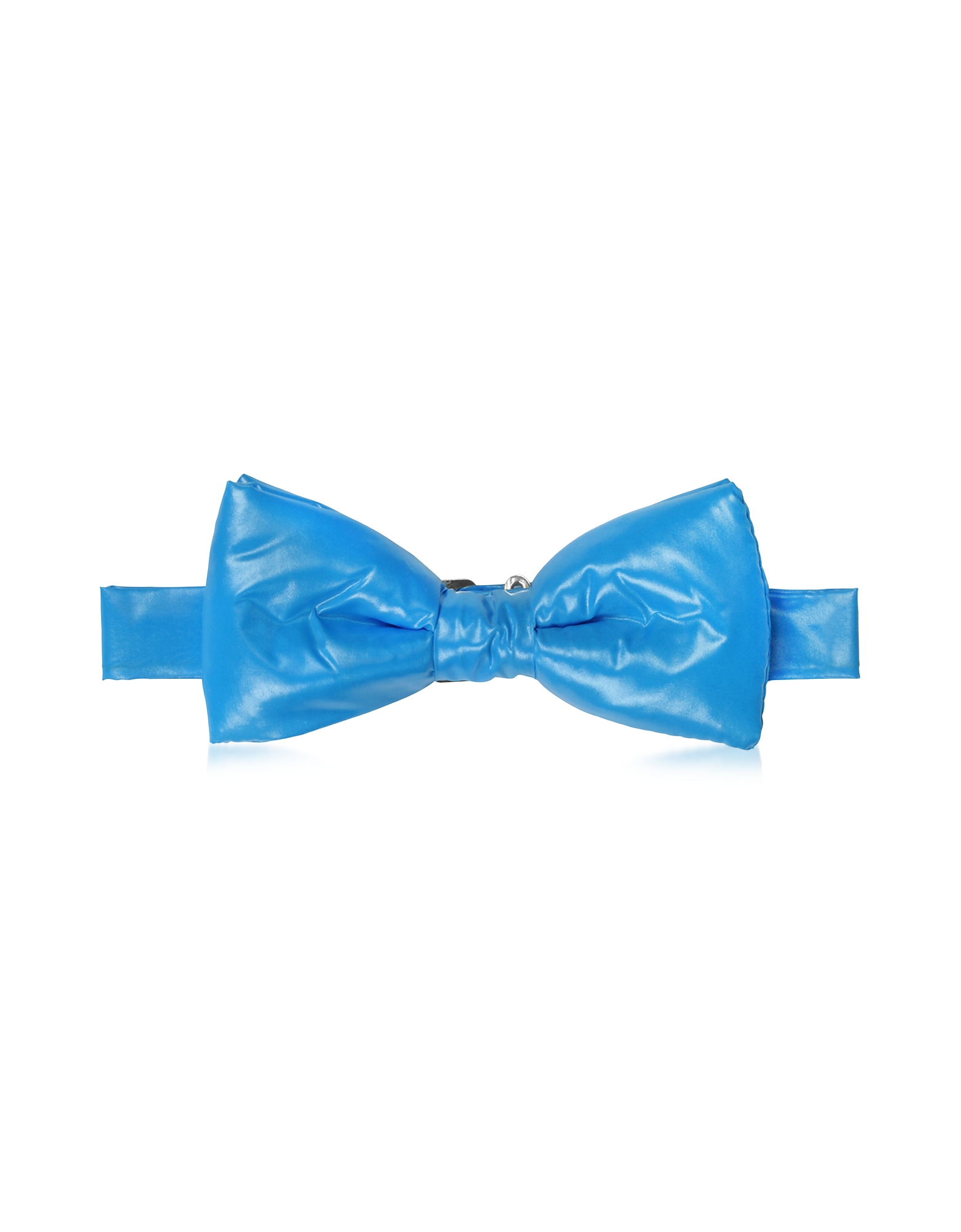 Forzieri Bowties and Cummerbunds, Sky Blue Nylon Puffer Bow Tie