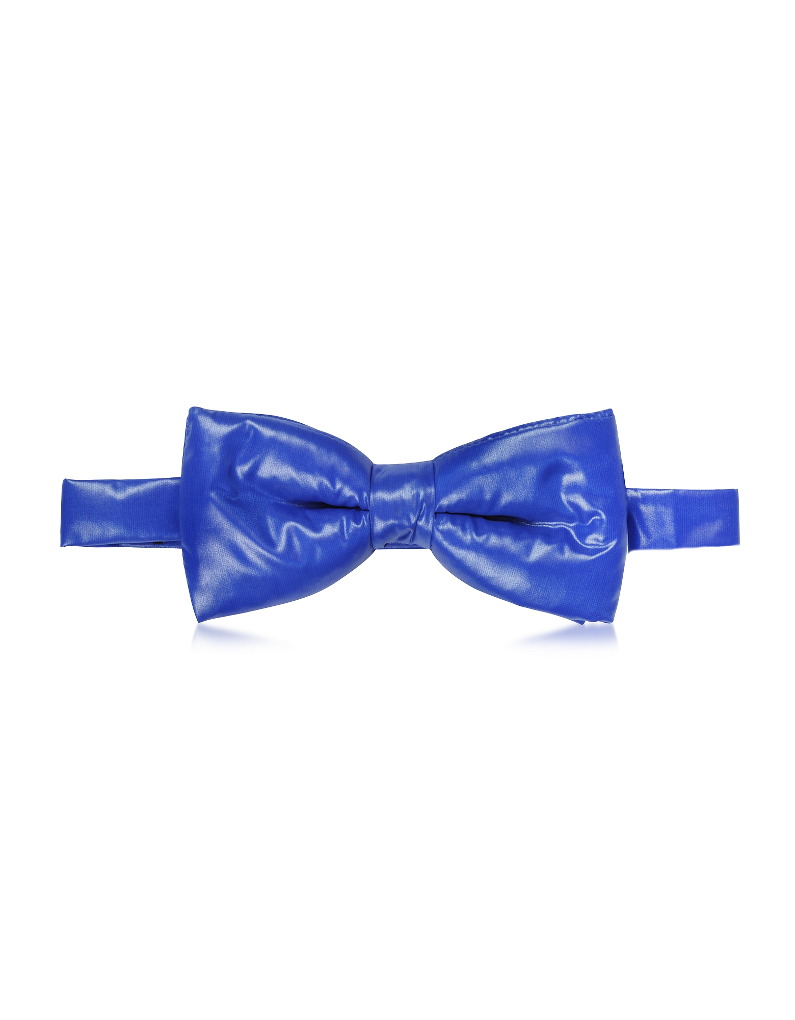 Forzieri Bowties and Cummerbunds, Electric Blue Nylon Puffer Bow Tie