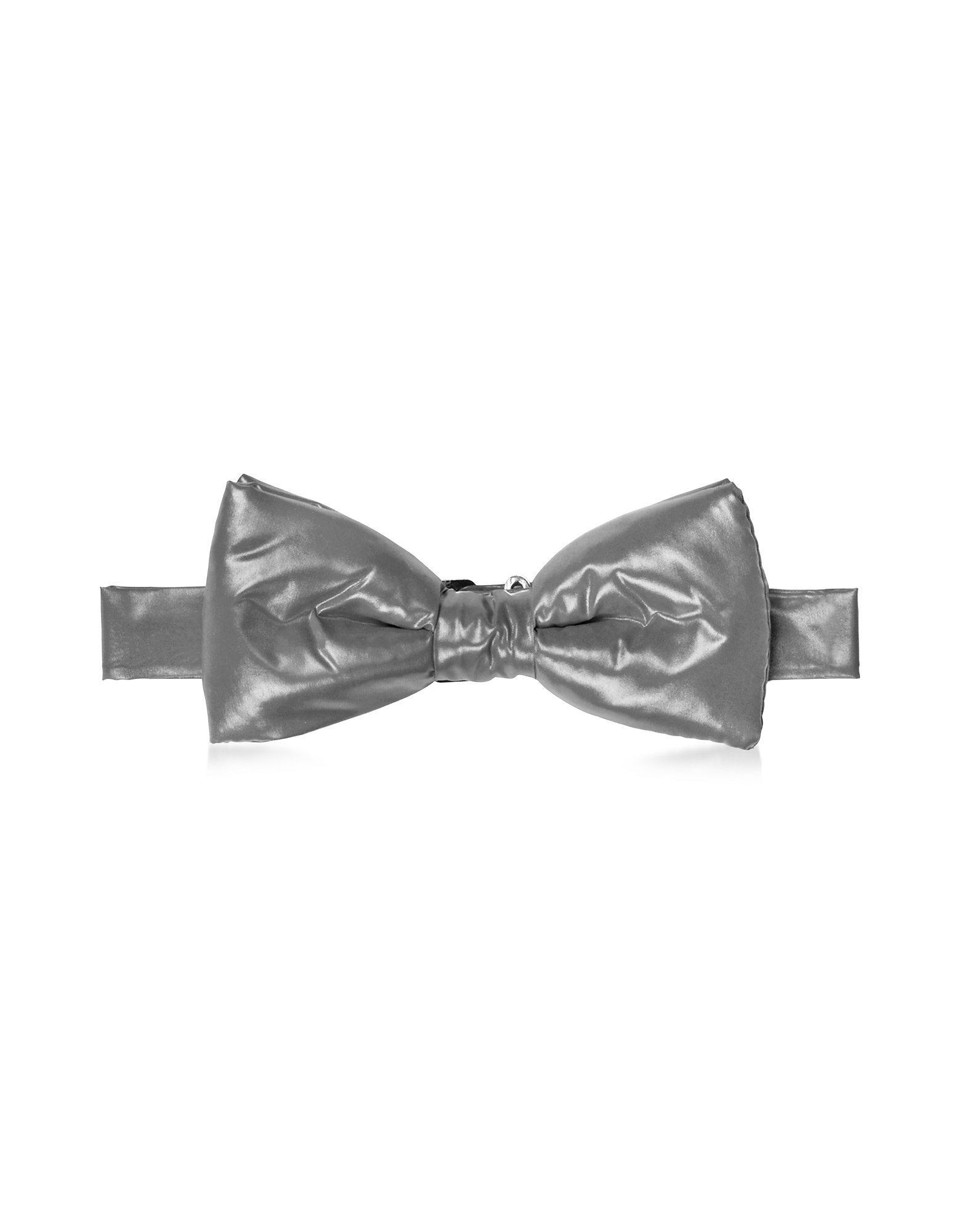 Forzieri Bowties and Cummerbunds, Dark Gray Nylon Puffer Bow Tie