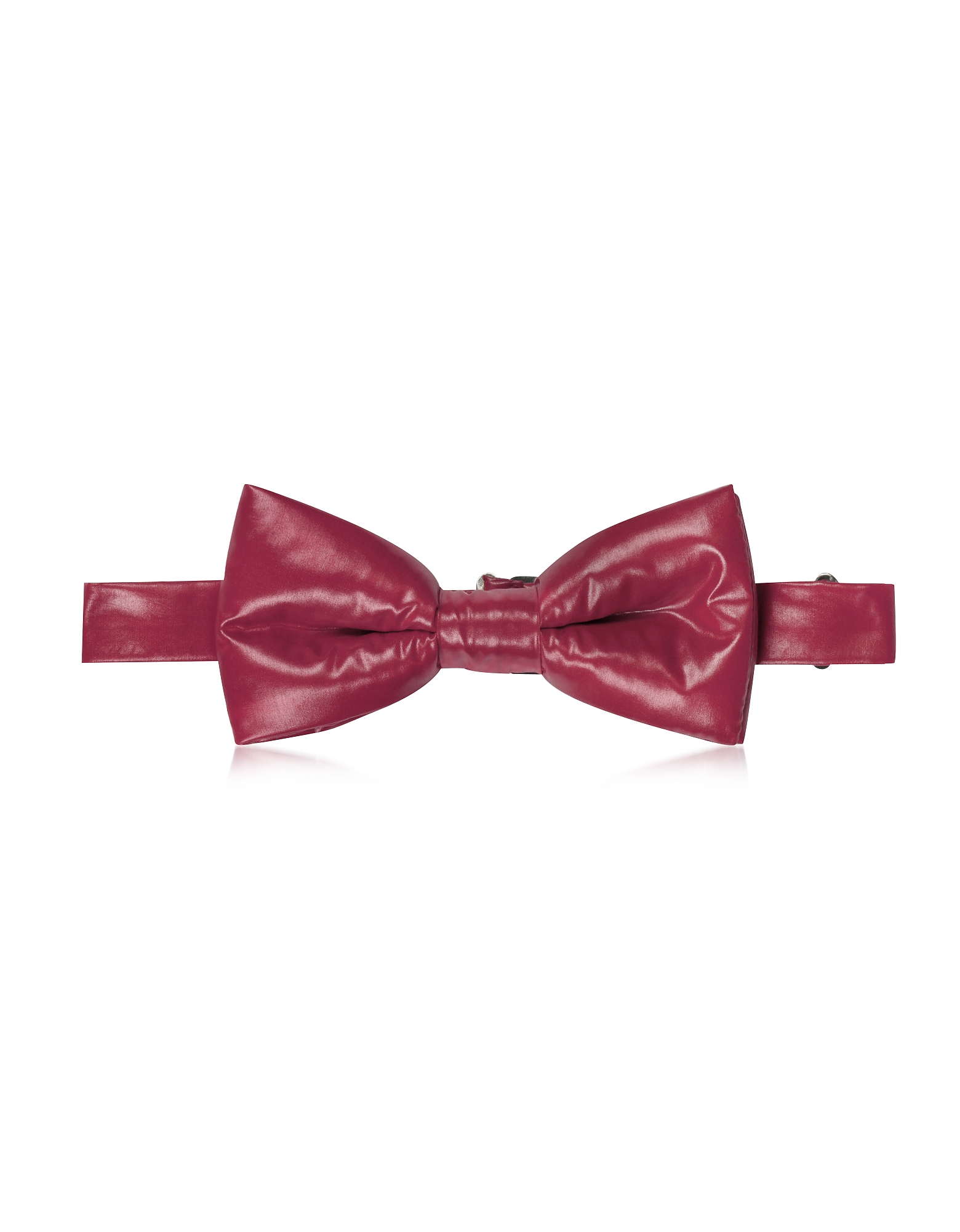 Forzieri Bowties and Cummerbunds, Purple Red Nylon Puffer Bow Tie