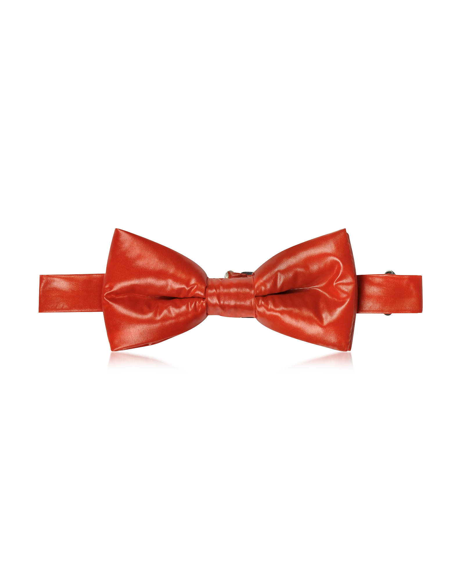 Forzieri Designer Bowties and Cummerbunds, Red Nylon Puffer Bow Tie