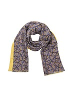 Lux-ID 207538 Maxi Paisley Print Silk Reversible Men's Scarf