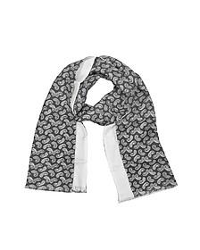 Écharpe homme réversible en soie avec motifs cachemire - Forzieri