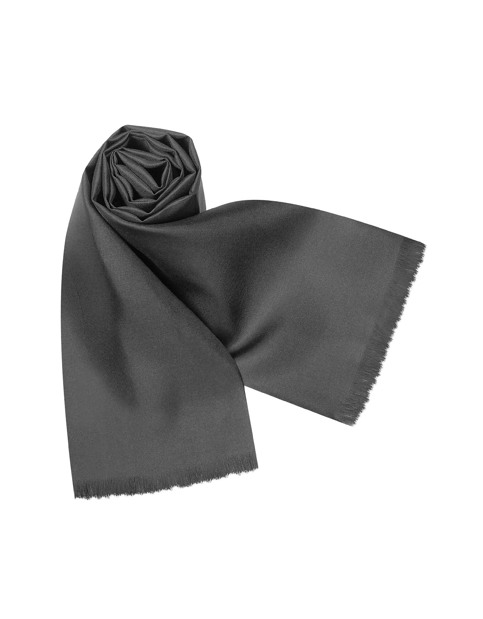 Forzieri Men's Scarves, Solid Silk Scarf