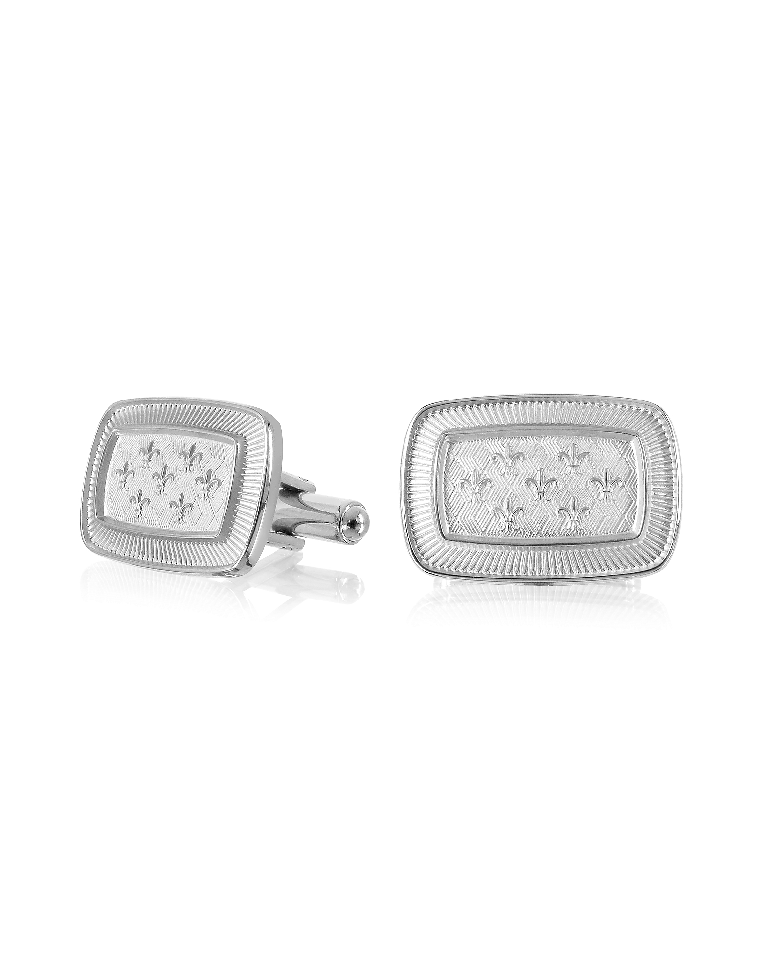 Evergreen - Fleur-de-Lis Rectangular Cufflinks от Forzieri.com INT