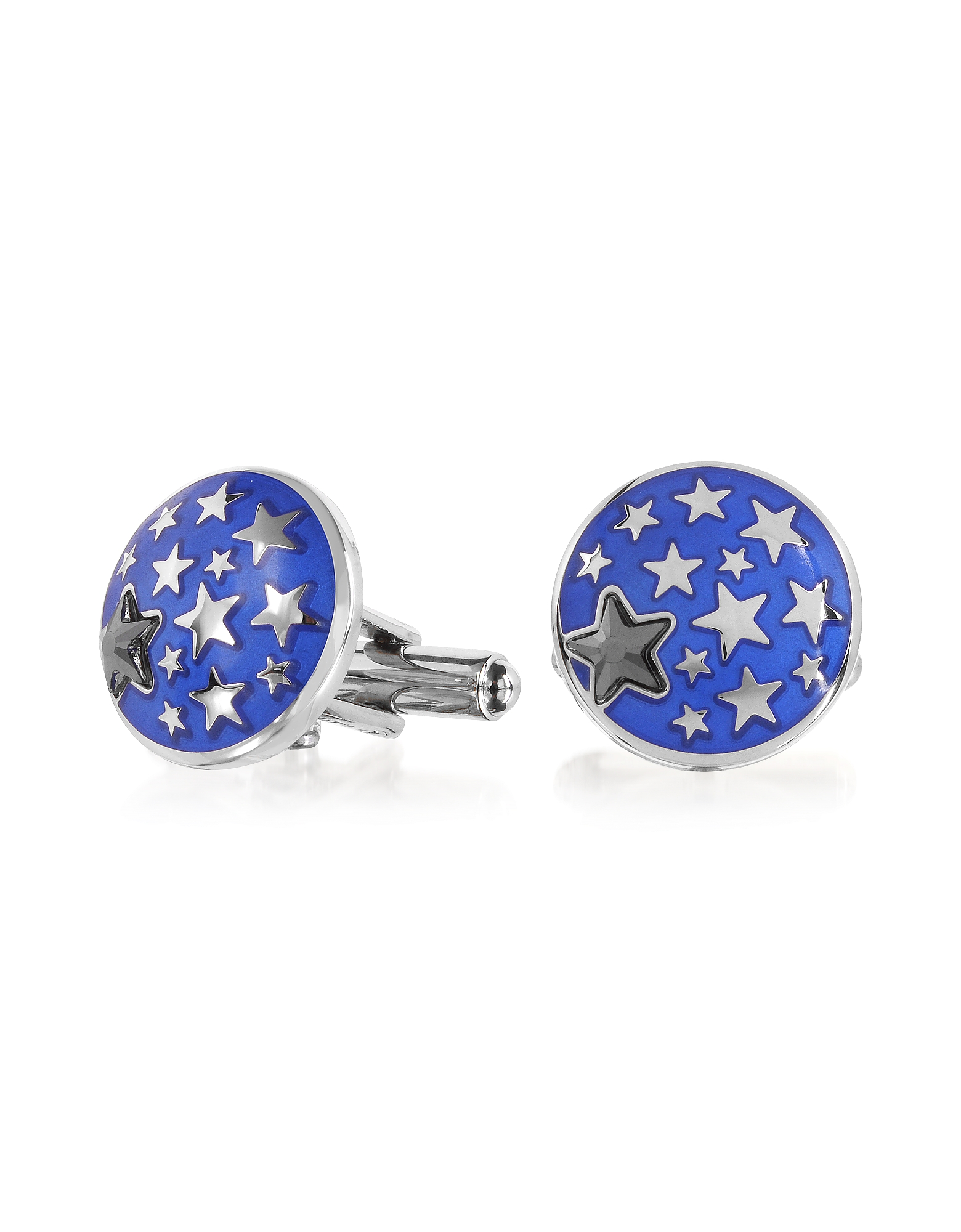 Lumiere Blue Enamel Brass Cufflinks от Forzieri.com INT