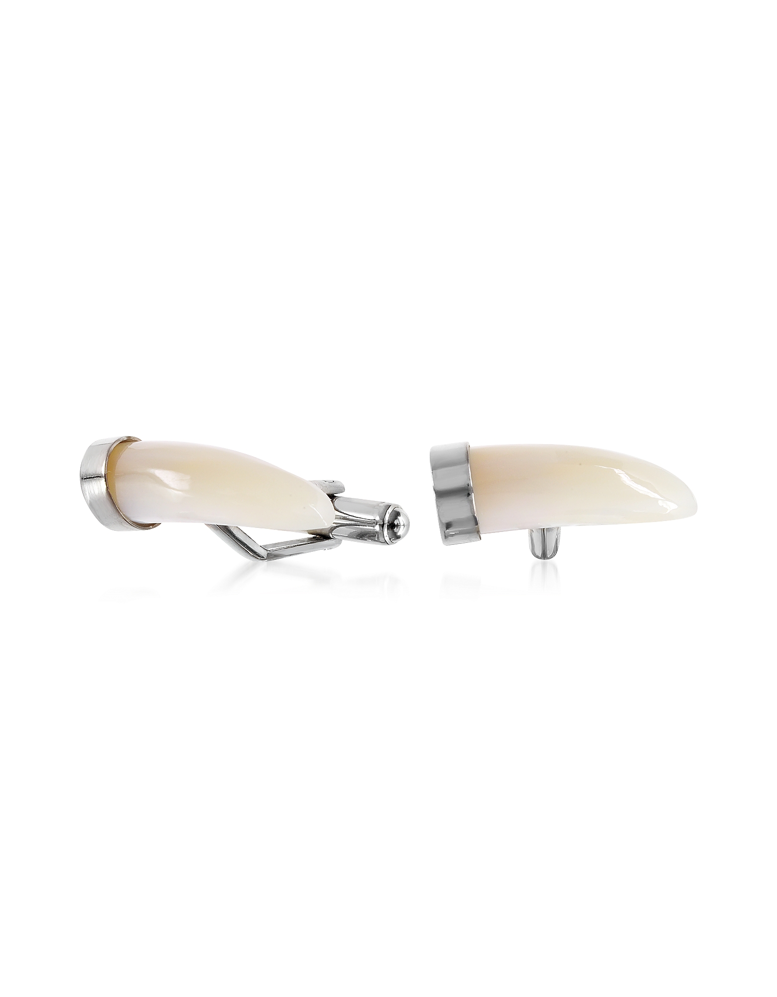 Forzieri Cufflinks, Mother of Pearl and Brass Horn Cufflinks
