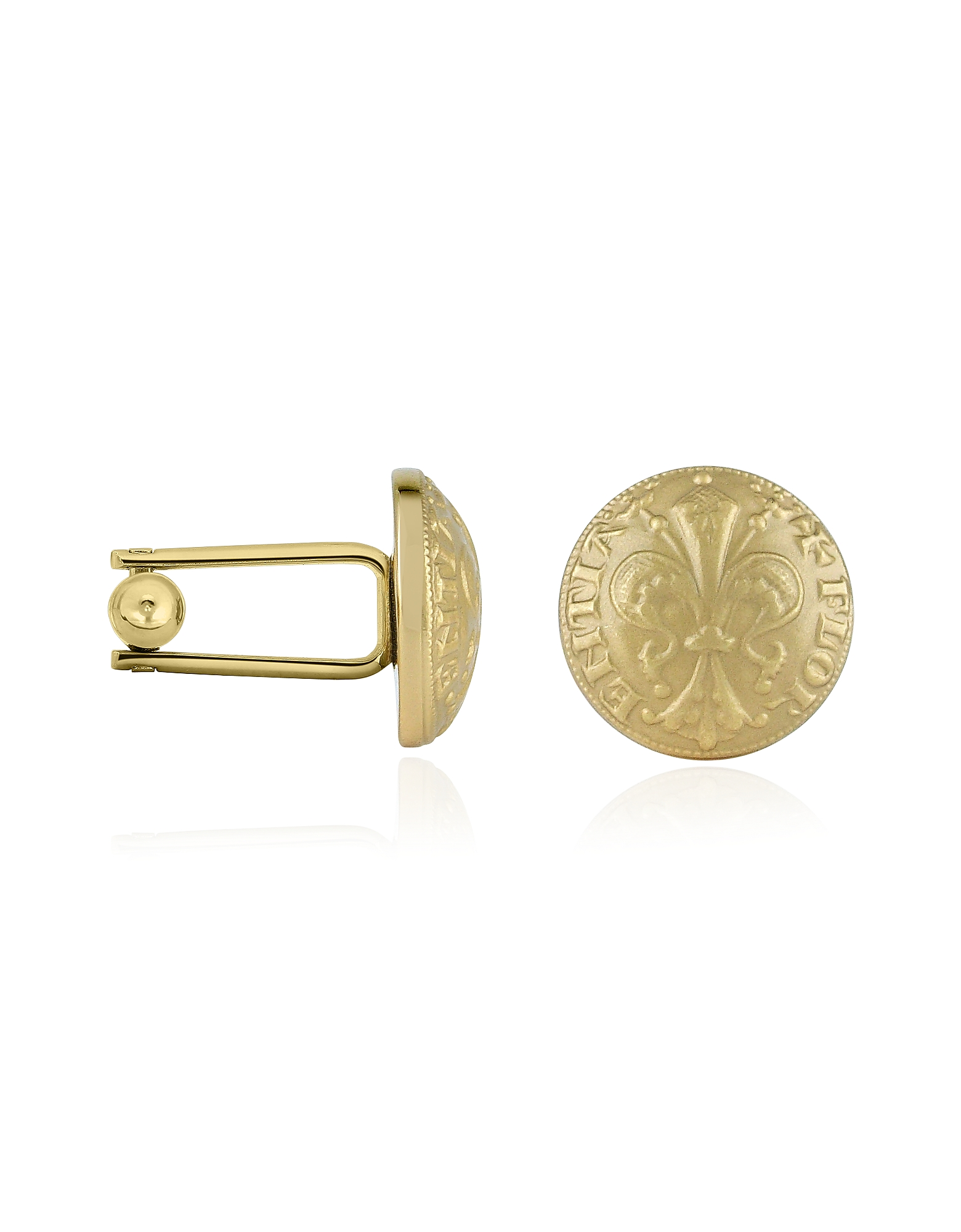 Forzieri Cufflinks, Fleur-de-Lis Gold-Plated Cufflinks
