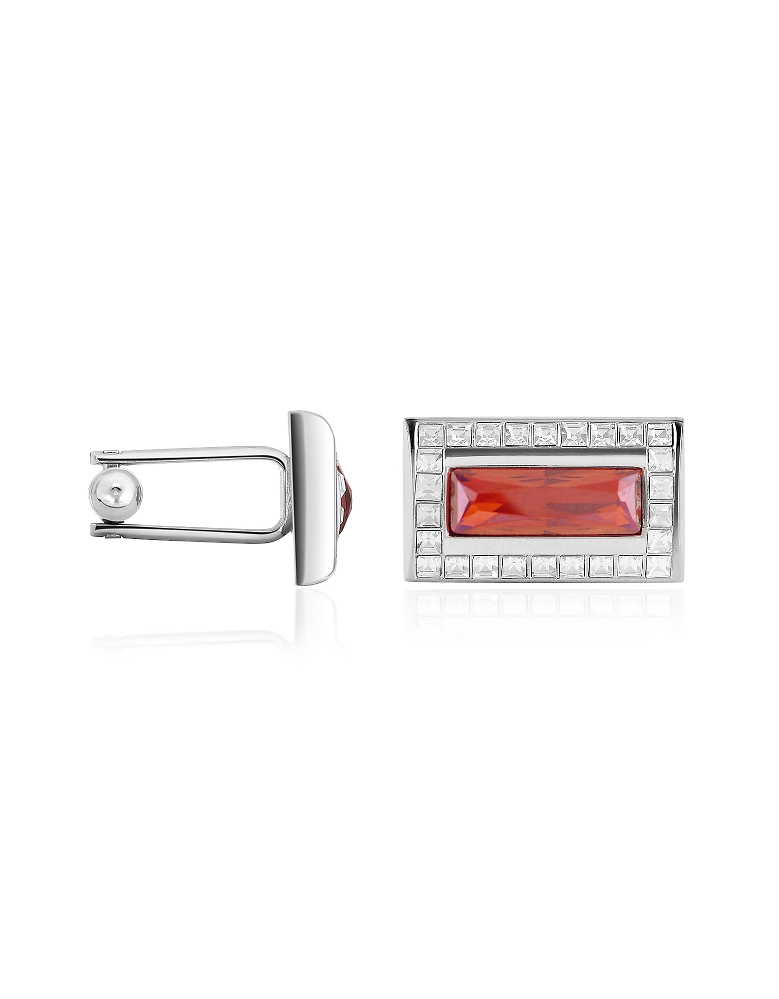 Forzieri Designer Cufflinks, Crystal Cuff Links