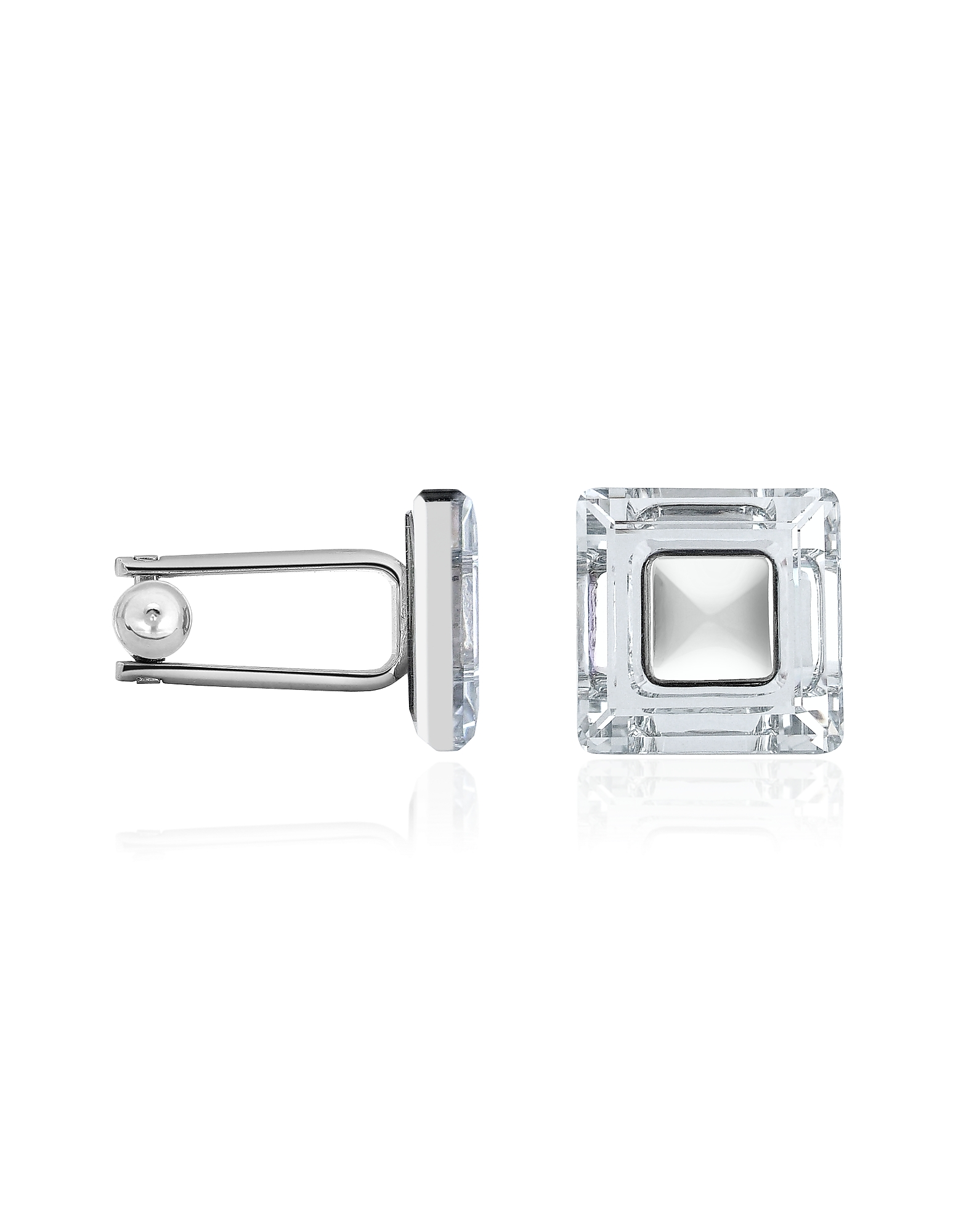 Forzieri Cufflinks, Square Crystal CuffLinks
