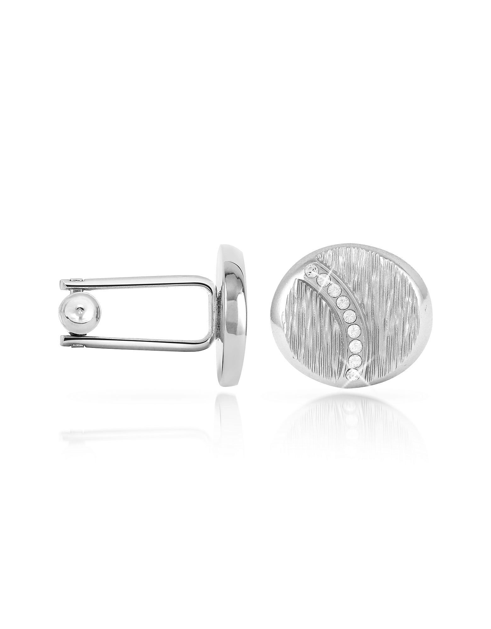 Forzieri Cufflinks, Textured Oval Cuff Links