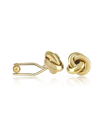 Forzieri - Knot Gold Plated Cuff Links