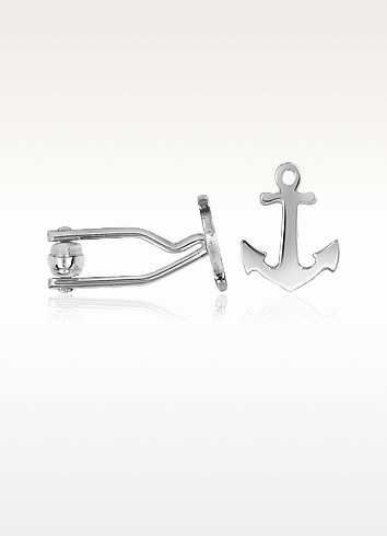Anchor Sterling Silver Cuff Links - Forzieri