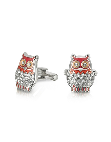 Forzieri - Fashion Garden - Owl Cufflinks