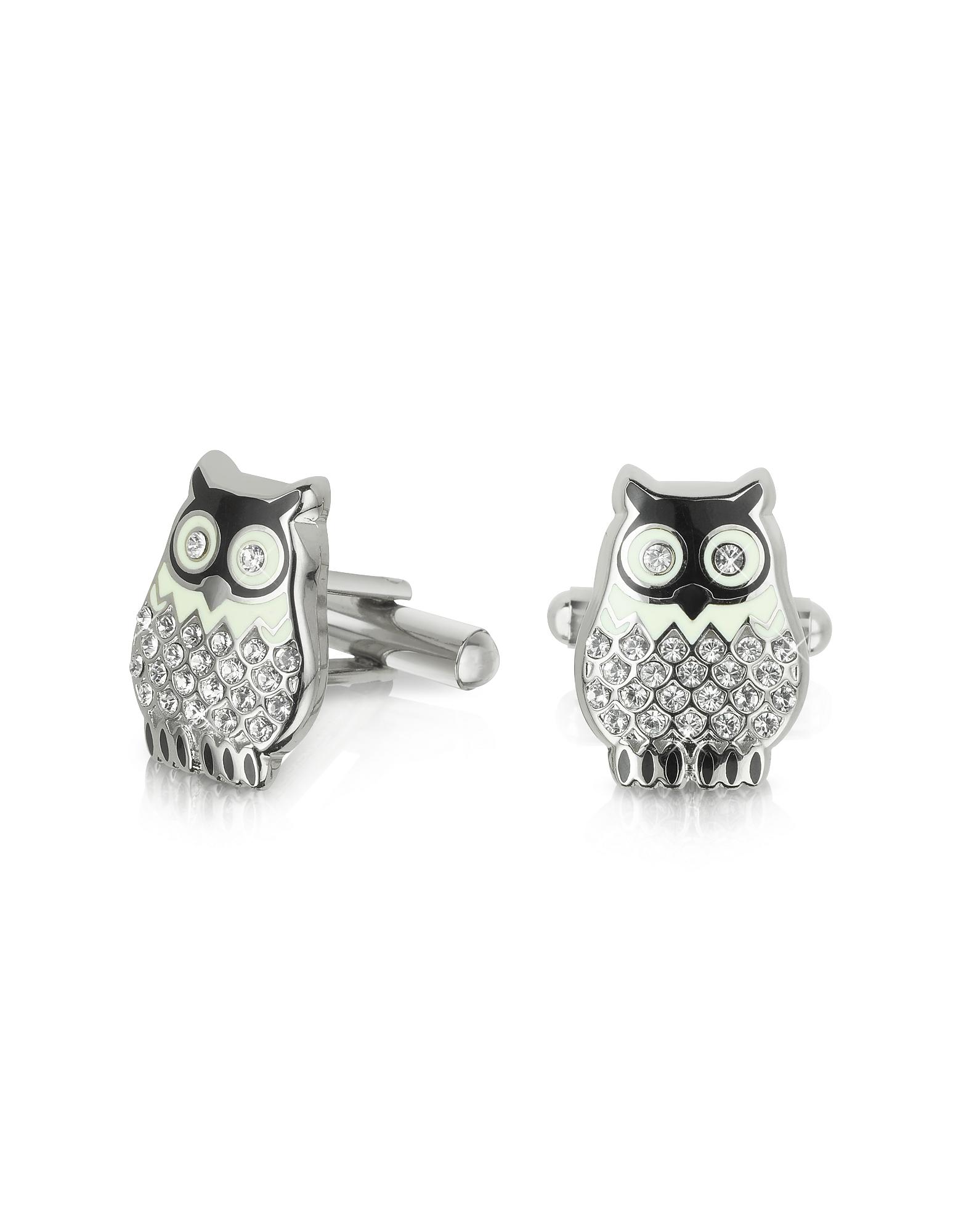 Forzieri Cufflinks, Fashion Garden - Owl Cufflinks