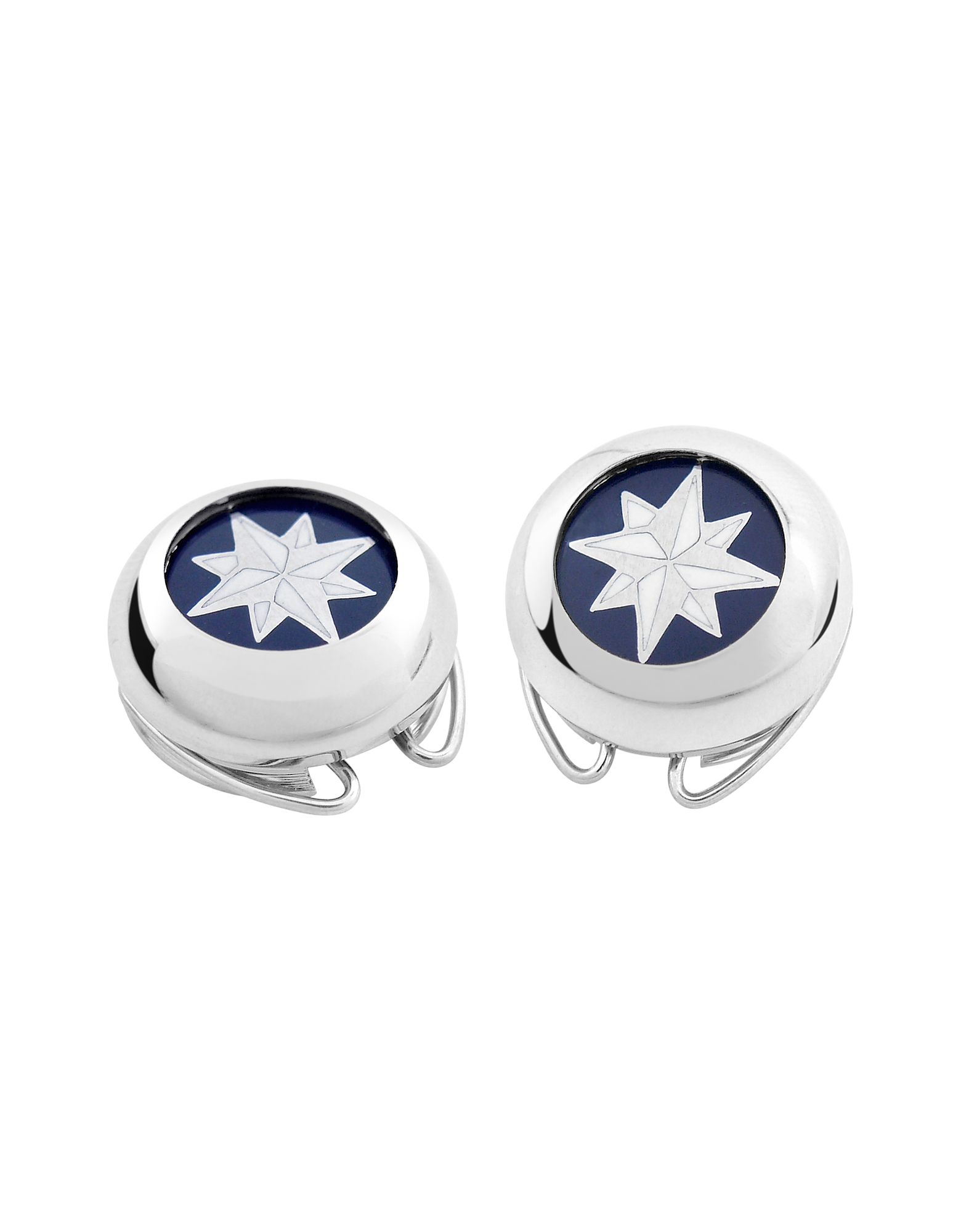 Image of Windrose Silver Plated Button Covers